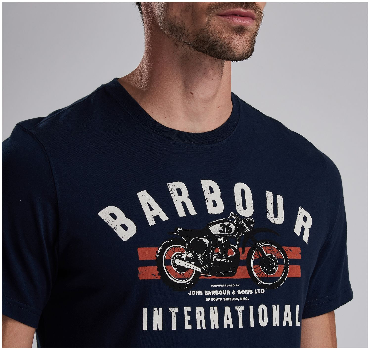 Vêtements lifestyle Tee-shirt Bike Stripes Barbour - 2