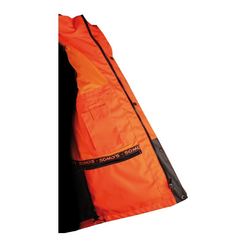 Vêtements de chasse Veste de traque Orange 453N Made In Traque Somlys - 5