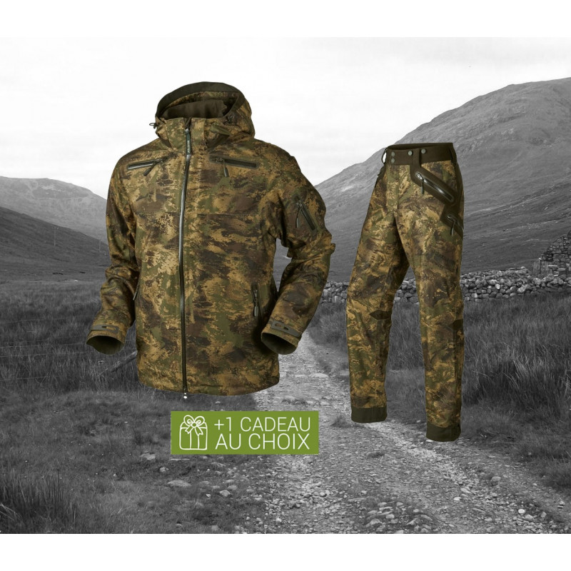 Cagoule pour Chasseur de Camouflage H/ärkila Masque de Chasse Camouflage Lynx in Axis MSP/® Forest Green Balaclava