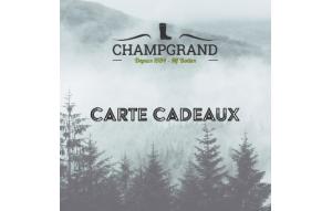 Carte Cadeau Champgrand